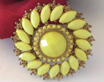 Large Yellow Ring, Costume Jewelry, Rings