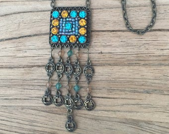 Crystal Necklace, Pendant Necklace, Beaded Necklace