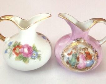1:12 Dollhouse Miniature Ceramics Flower Vase Jug Pot For Doll House Decorf KW