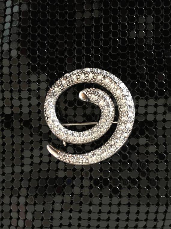 Snake Brooch, Crystal Snake Brooch - image 1