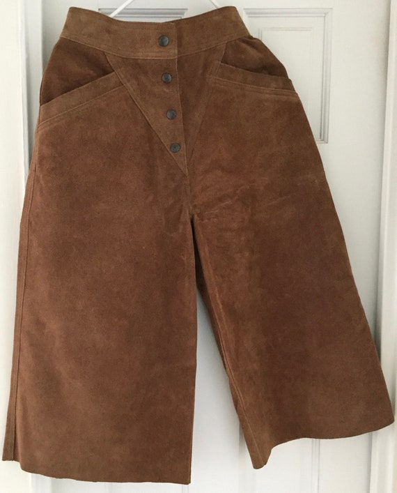 Gauchos in Golden Brown Suede