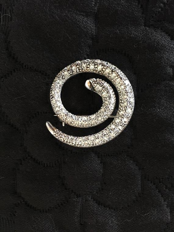 Snake Brooch, Crystal Snake Brooch - image 7