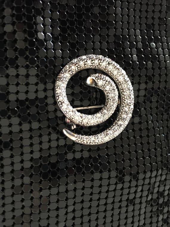 Snake Brooch, Crystal Snake Brooch - image 5