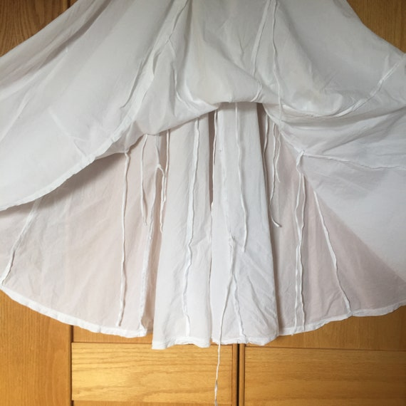 White Cotton Skirt, Flowy Skirts, Handsewn Cotton… - image 9