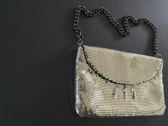 Whiting and Davis Mesh Evening Bag, Silver Evenin… - image 2