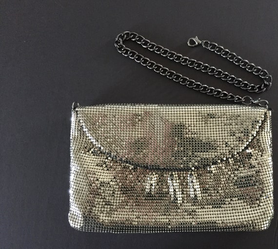 Whiting and Davis Mesh Evening Bag, Silver Evenin… - image 8