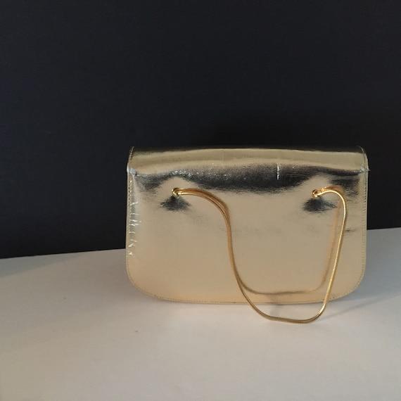 Gold Evening Bag, Top Handle Evening Bag - image 5