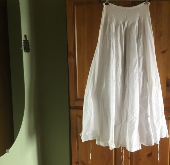 White Cotton Skirt, Flowy Skirts, Handsewn Cotton… - image 3