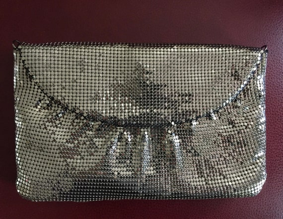 Whiting and Davis Mesh Evening Bag, Silver Evenin… - image 4