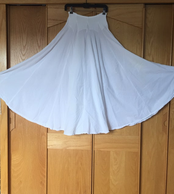 White Cotton Skirt, Flowy Skirts, Handsewn Cotton… - image 1