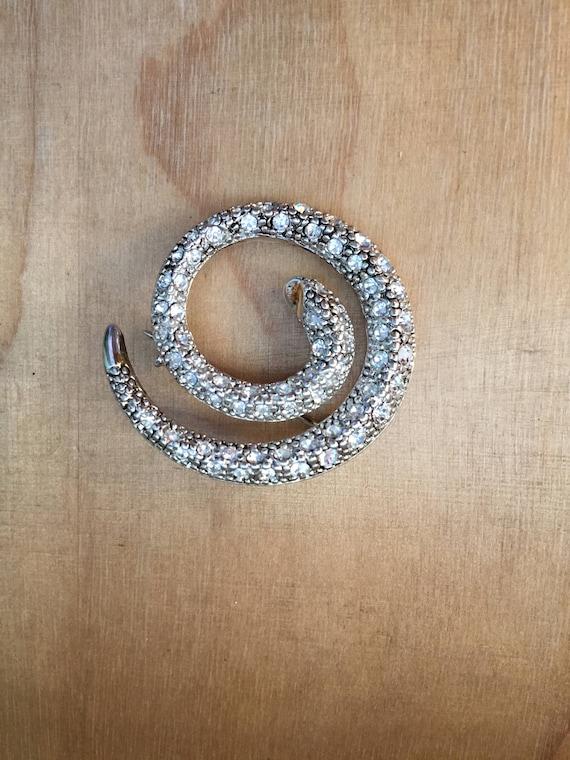Snake Brooch, Crystal Snake Brooch - image 3