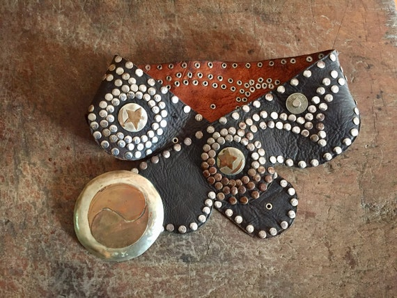 Studded Belt, Morrocan Belt, Distressed Studded Be
