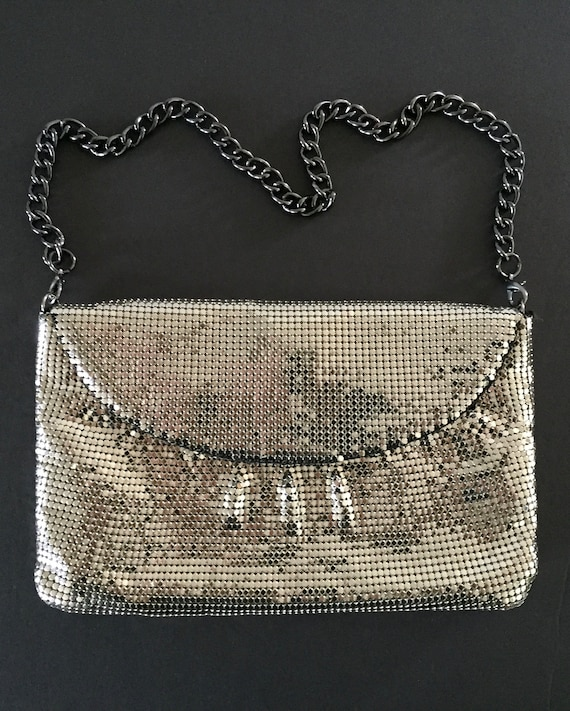 Whiting and Davis Mesh Evening Bag, Silver Evenin… - image 3