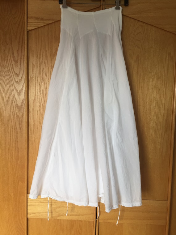 White Cotton Skirt, Flowy Skirts, Handsewn Cotton… - image 7