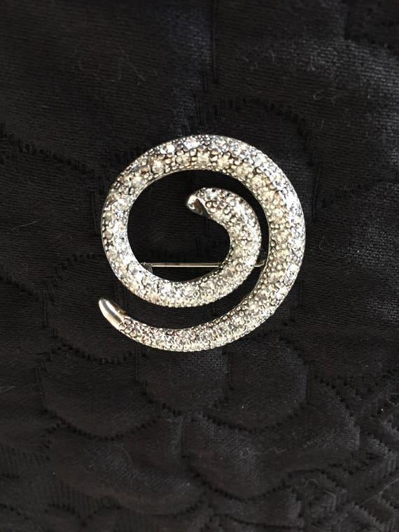 Snake Brooch, Crystal Snake Brooch - image 10