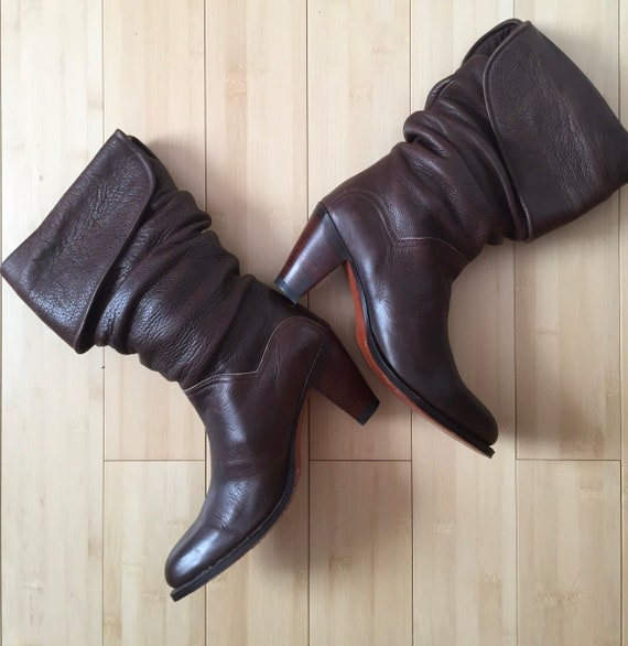 Frye Slouch Boots, Dark Brown Slouch Boots, Ladies