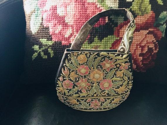 Evening Bag, Beaded Evening Bag, Floral Evening Ba