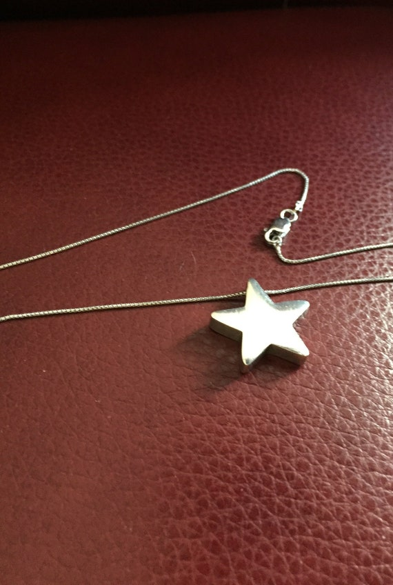 Star Pendant Necklace, Sterling Star Pendant, Rock