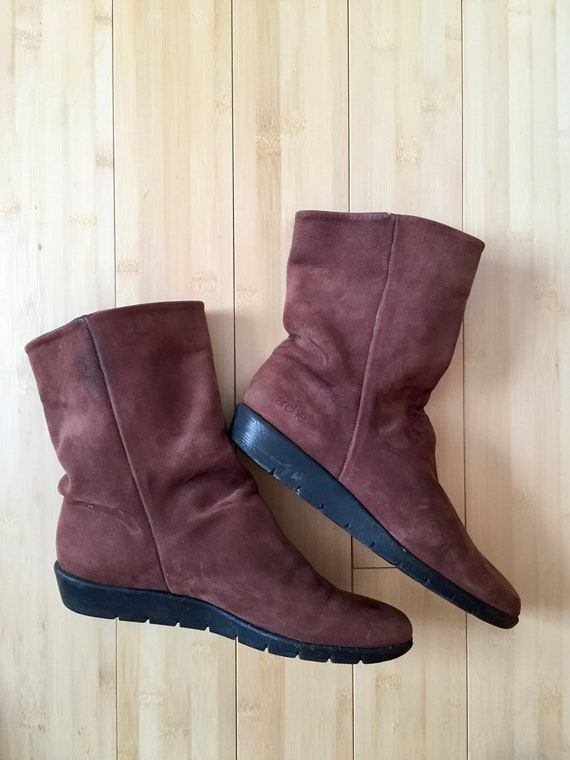 Arche Brown Suede Booties, Brown Suede Booties & A