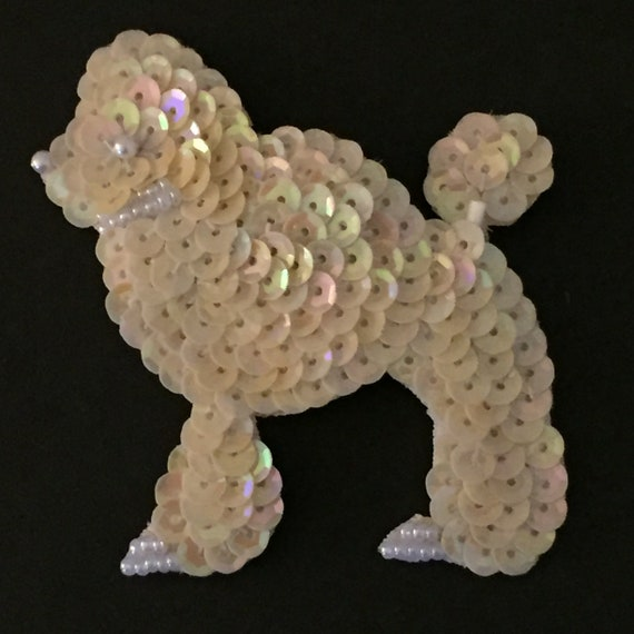 Poodle Brooch, Dog Brooch, Animal Brooch