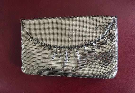 Whiting and Davis Mesh Evening Bag, Silver Evening