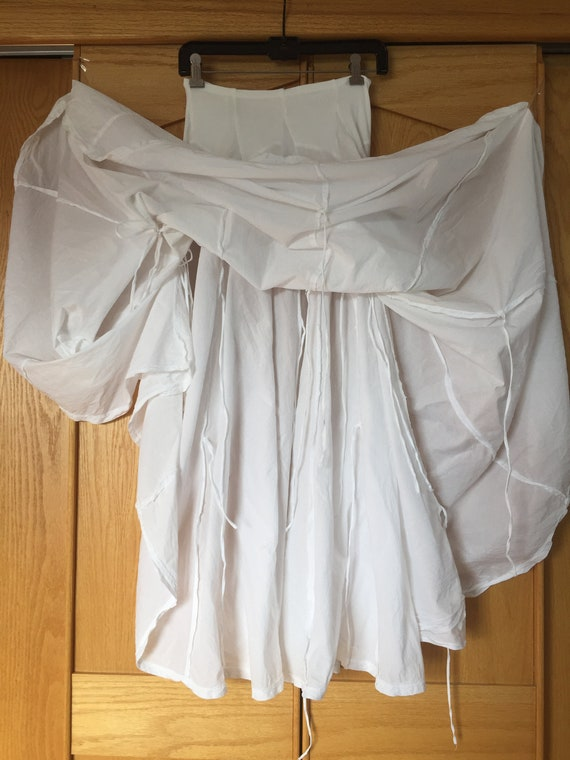 White Cotton Skirt, Flowy Skirts, Handsewn Cotton… - image 6