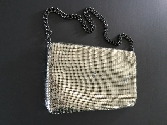 Whiting and Davis Mesh Evening Bag, Silver Evenin… - image 9