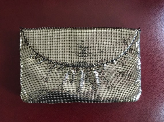 Whiting and Davis Mesh Evening Bag, Silver Evenin… - image 5