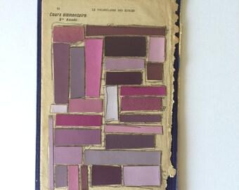 Le Vocabulaire des Écoles Color Ways Collage (Purple/Pourpre)