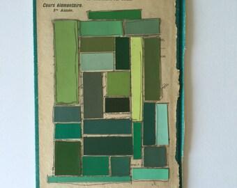 Le Vocabulaire des Écoles Color Ways Collage (Green/Vert)