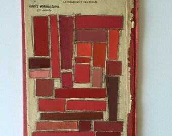 Le Vocabulaire des Écoles Color Ways Collage (Red/Rouge)