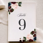 Fall Wedding Table Number Signs, m19