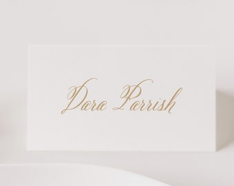 Wedding Name Cards, Printed Place Cards, Escort Cards