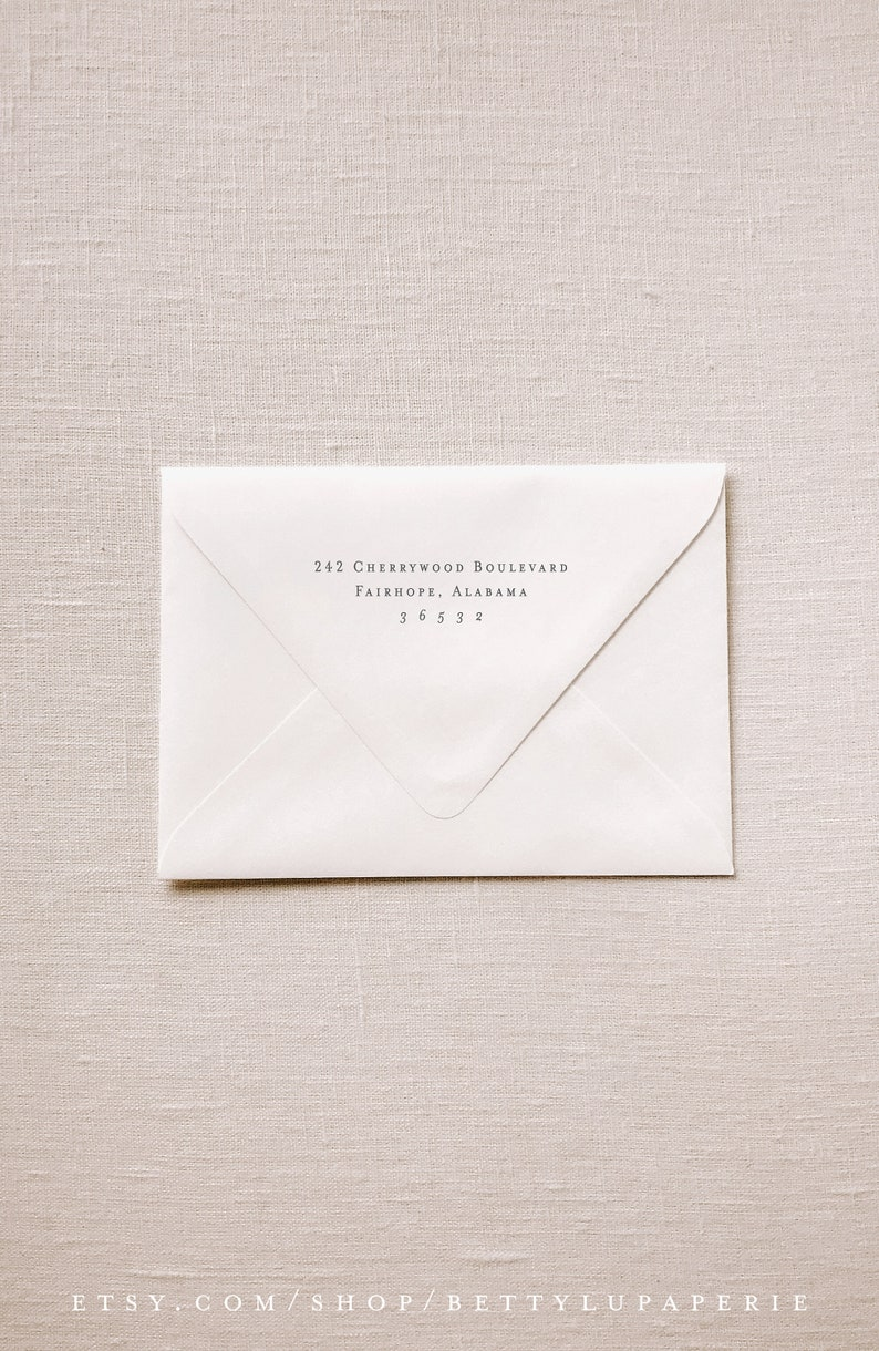 b16 Doesn/'t Include RSVP Envelopes available with an order of **PRINTED** Invitations Invitation Envelope Printing: Guest and Return h17
