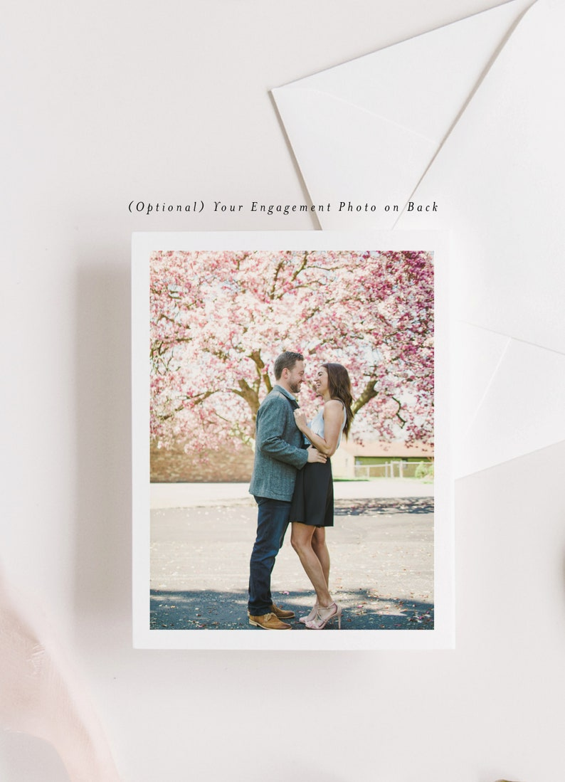 Wedding Save the Date with Photo