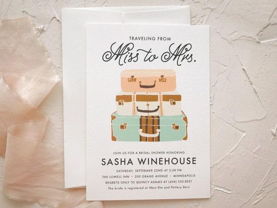 Traveling shower wedding shower invitation miss to mrs bridal etsy image 0 filmwisefo
