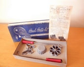 Vintage 1950 39 s Handy Hostess Kit Waff-l-ette and Patty Mold Set- 5 pc. set in original box