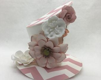 Peach and White Delight Alice in Wonderland Fascinator Flowers Birthday Girl Mad Hatter Birthday Gift Whimsical Hat Tea Party Garden Hat