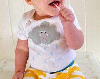 Cloud Outifit/Baby Bodysuitor Toddler shirt - Happy Raincloud