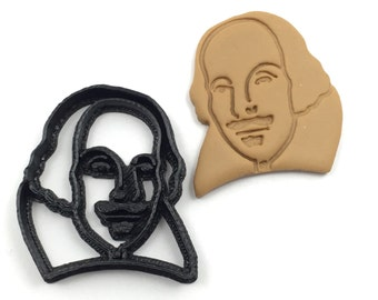 Mini William Shakespeare Cookie Cutter for Cupcake toppers