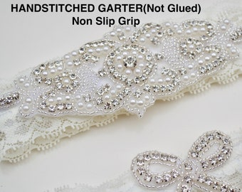Light Ivory Wedding Garter Set NO SLIP grip Bridal Garter Wedding Garter Set Ivory Wedding Garter Set White Wedding Garter Set