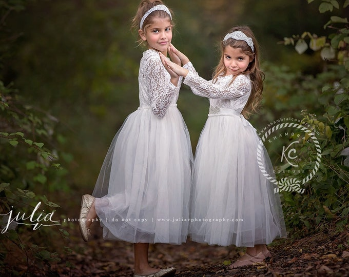 Ballerina flower girls dress