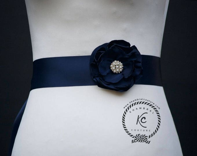 Featured listing image: Navy Blue  Wedding Belt, Navy Blue Wedding Sash, Navy Blue Bridal Sash, Navy Blue Bridal Belt, Navy Bridesmaid Belt,Navy Bridal Belt Sash