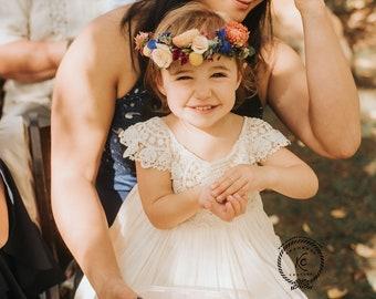 97a235904 Boho flower girl dress