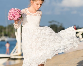 53cbc04c3a lace flower girl dress flower girl dress girls lace dress lace dress boho flower  girl dress flower girl dress lace charlottle dress