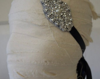1920s Flapper Headband, Gatsby Heaband, Bridal Headpiece,Wedding Headpiece,Flapper Headpiece