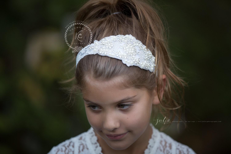 Vintage Flower Girl Headbands