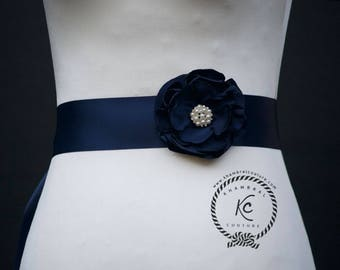 Navy Blue  Wedding Belt, Navy Blue Wedding Sash, Navy Blue Bridal Sash, Navy Blue Bridal Belt, Navy Bridesmaid Belt,Navy Bridal Belt Sash