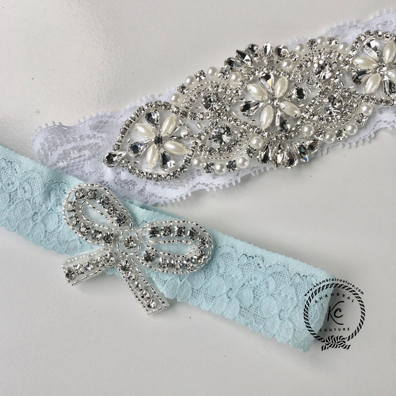 SomeThing Blue Wedding Garter Set NO SLIP grip Bridal Garter Wedding Garter Set White Wedding Garter Set White Wedding Garter Set