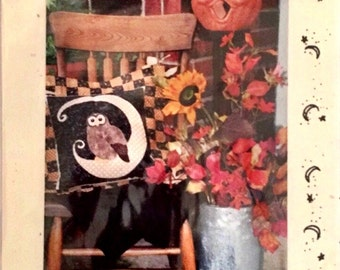 Pattern SDG-13  Owl Moon Pillow by Serendipity Gifts Uncut